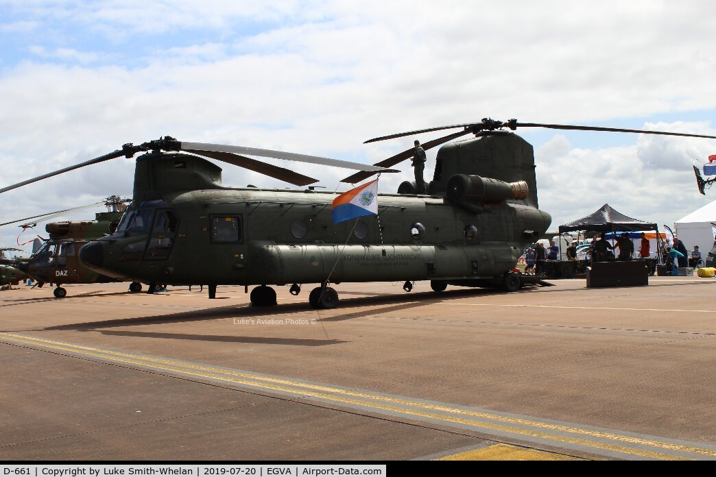 D-661, Boeing CH-47D Chinook C/N M.3661/NL-001, At RIAT 2019