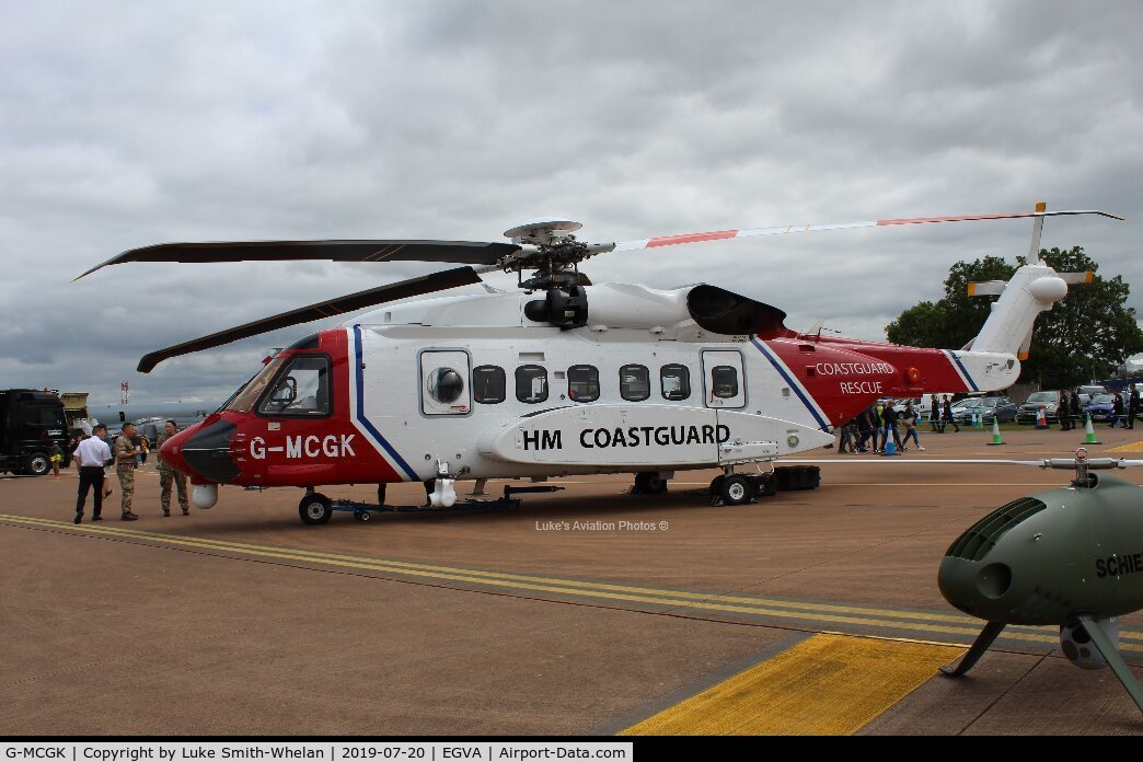 G-MCGK, 2014 Sikorsky S-92A C/N 920251, At RIAT 2019