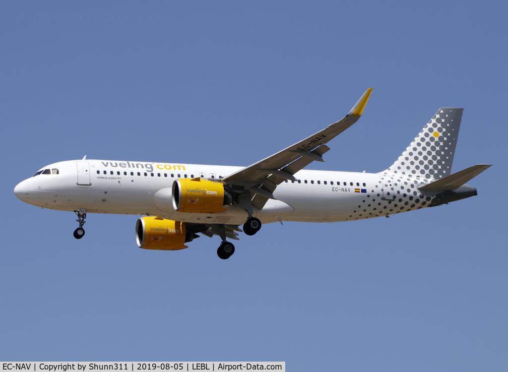 EC-NAV, 2018 Airbus A320-271N C/N 8565, Landing rwy 25R