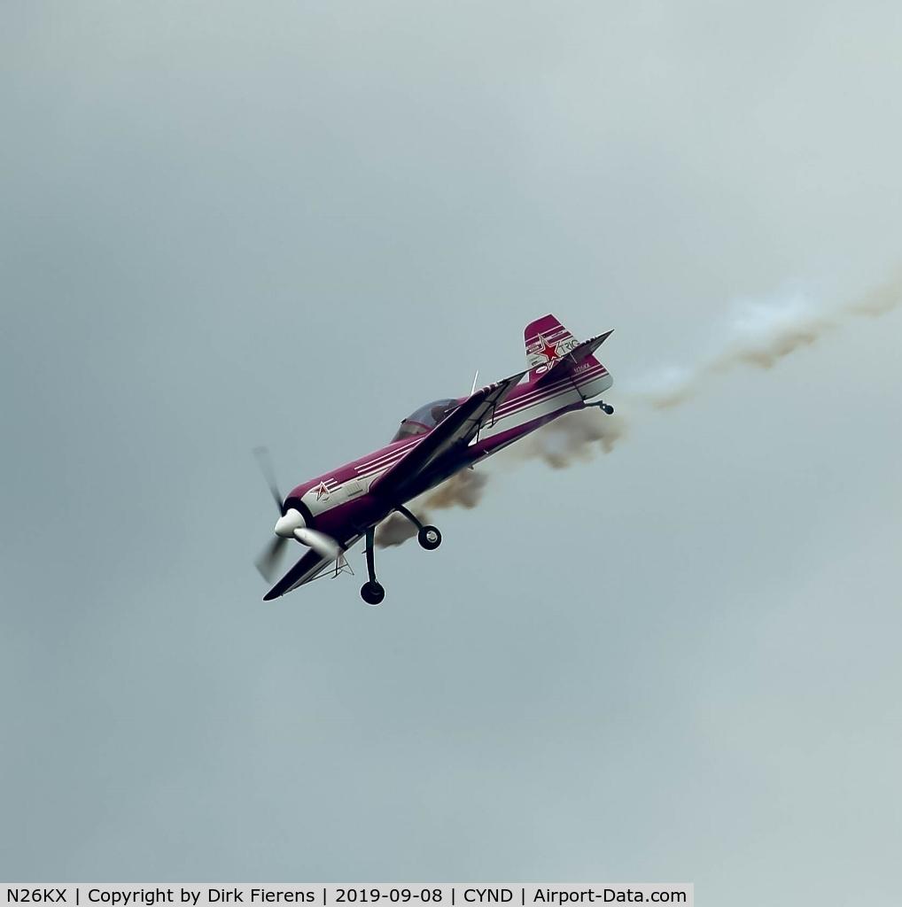 N26KX, 1993 Sukhoi Su-26 C/N 05-07, Doing aerobatics.