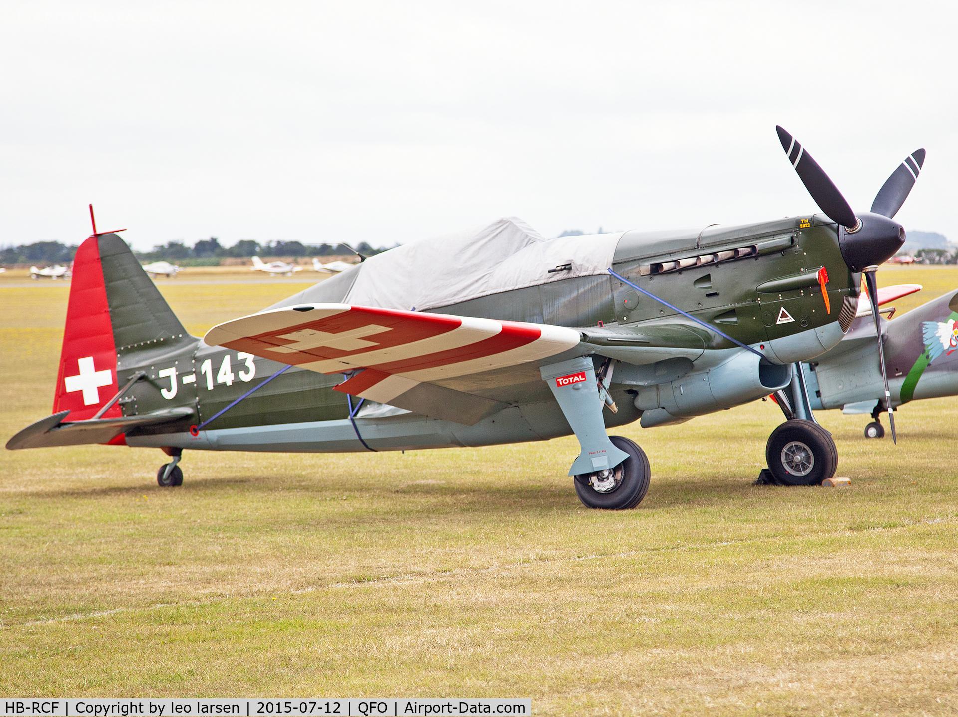 HB-RCF, 1942 Morane-Saulnier (EKW) D-3801 (MS-412) C/N 194, Duxford 12.7.2015