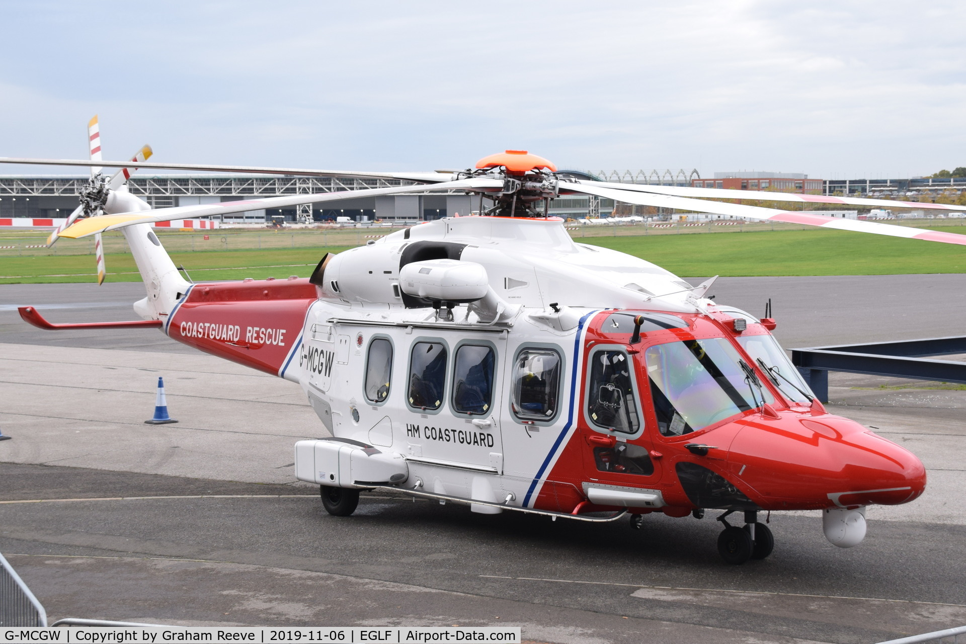 G-MCGW, 2018 Leonardo AW189 C/N 92009, On display at, Vertical Flight Expo - 2019.