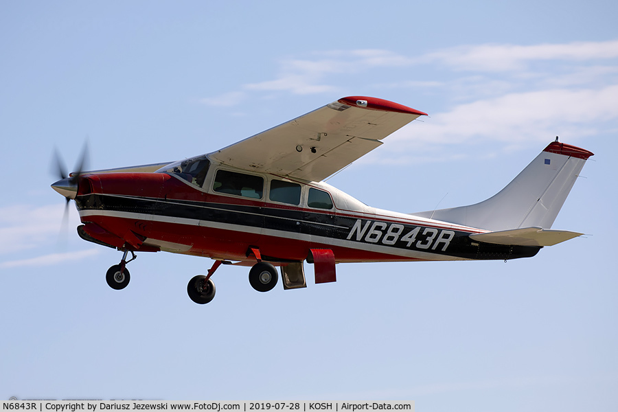 N6843R, 1966 Cessna T210G Turbo Centurion C/N T210-0243, Cessna T210G Turbo Centurion  C/N T210-0243, N6843R