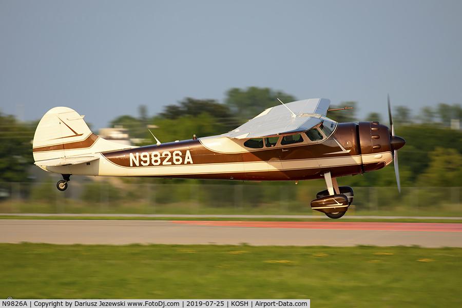 N9826A, 1950 Cessna 195 C/N 7505, Cessna 195Businessliner  C/N 7505, N9826A