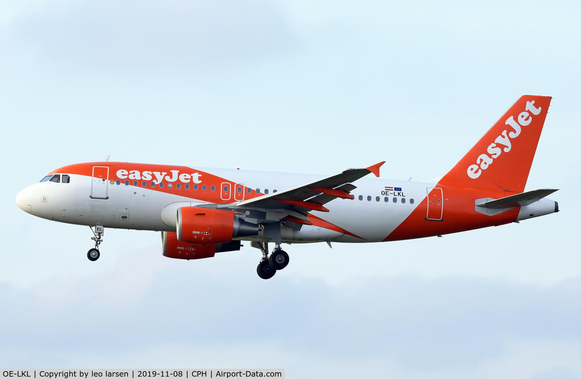 OE-LKL, 2009 Airbus A319-111 C/N 4048, Copenhagen 8.11.2019