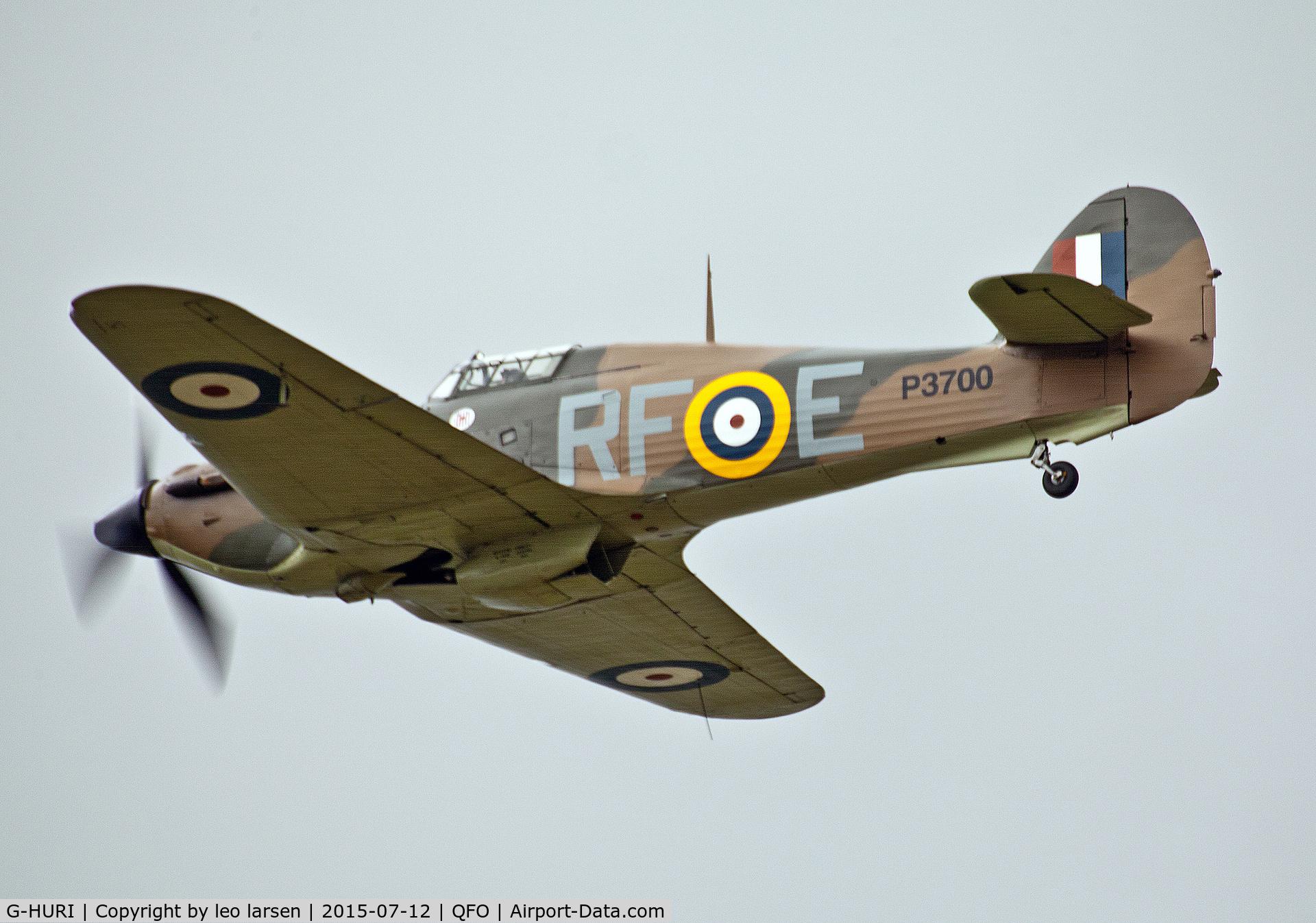 G-HURI, 1942 Hawker (CCF) Hurricane Mk12A C/N 72036, Duxford 12.7.2015