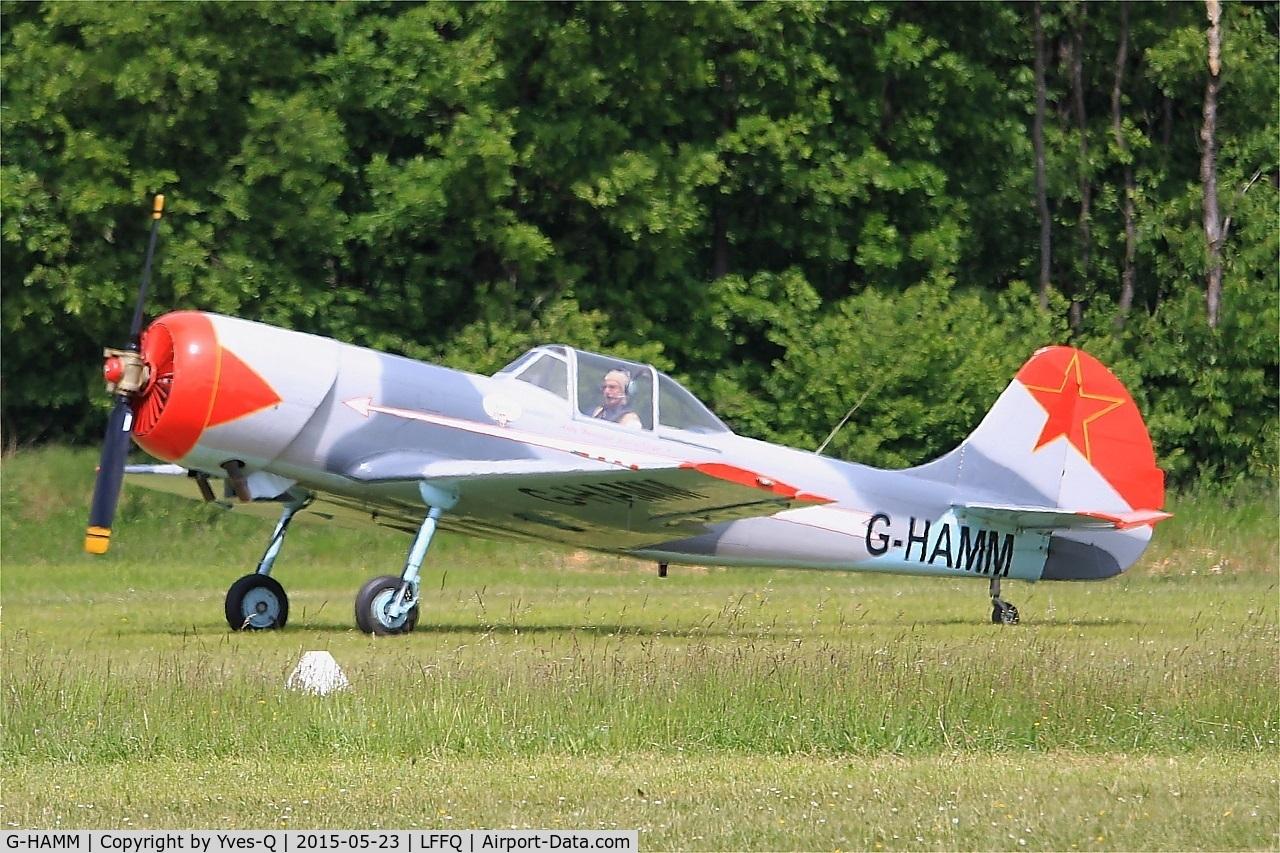 G-HAMM, 1983 Yakovlev Yak-50 C/N 832409, Yakovlev Yak-50, Taxiing, La Ferté-Alais Airfield (LFFQ) Air show 2015