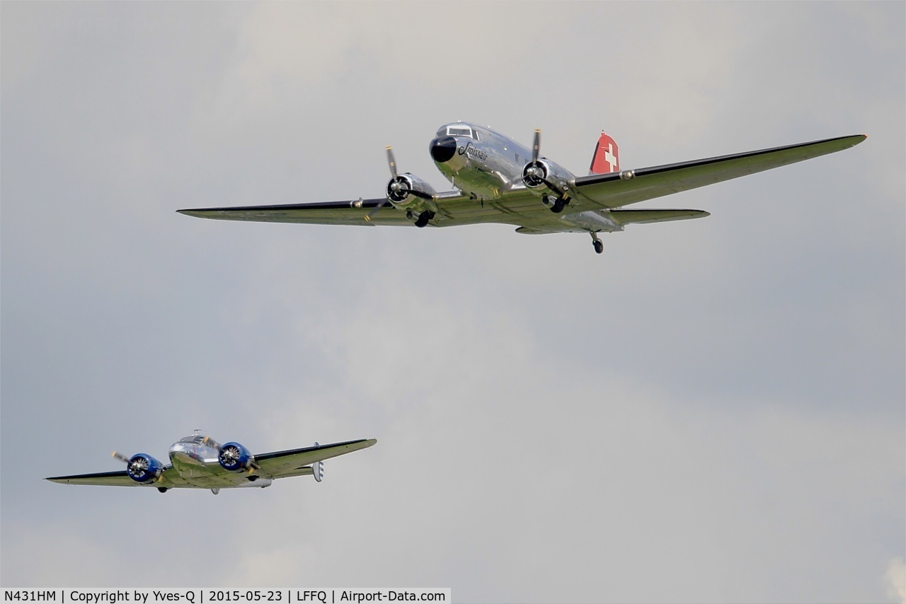 N431HM, 1943 Douglas C-47A-45DL (DC-3C-S1C3G) C/N 9995, Douglas DC3C-S1C3G, On display, La Ferté-Alais airfield (LFFQ) Airshow 2015