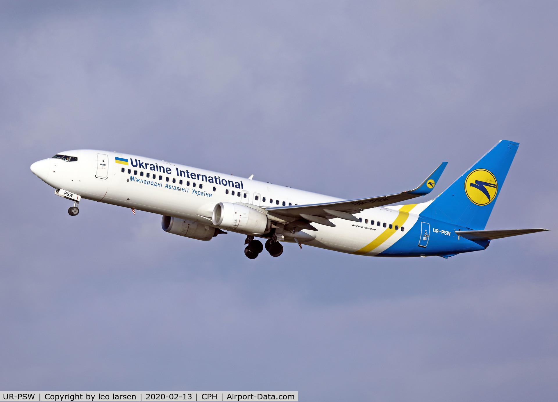 UR-PSW, 2017 Boeing 737-8KV C/N 41536, Copenhagen 13.2.2020