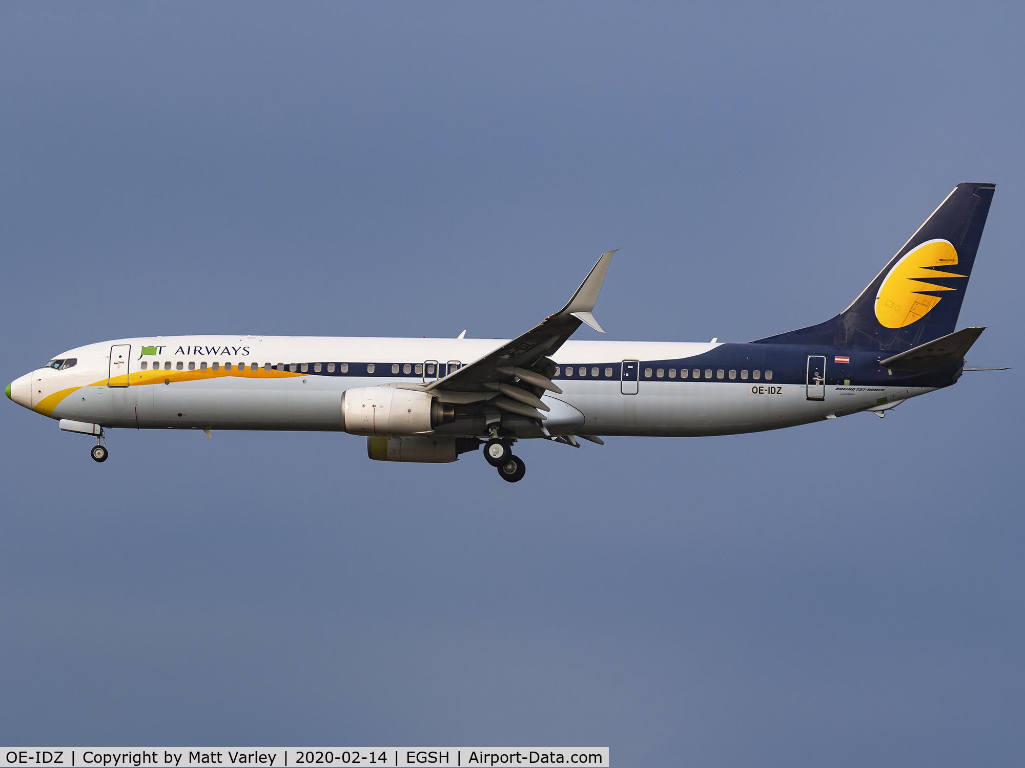OE-IDZ, 2008 Boeing 737-96NER C/N 35227, Jet Airways
