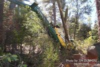 N814CE @ HWY 330 - Snow Valley, Ca  Day after Aircraft crashed. Pilot lived with Serious Injury - by Jim Dunmire