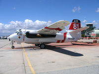 N449DF - CDF S-2T Air Tanker #81 on alert at CDF Air Attack Base at Hollister Municipal Airport, CA - by Steve Nation