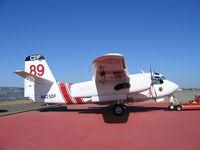 N425DF @ MCC - CDF S-2T #89 on CDF ramp at McClellan AFB, CA (black fin/white tail) - by Steve Nation