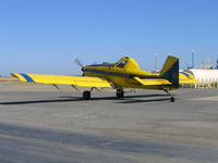 N5044N @ 69CL - Growers Air Service 1997 Air tractor AT-502 taxiis out for spray run at airstrip SE of Woodland, CA