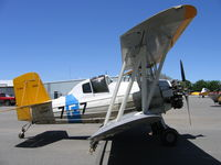 N503Y @ WLW - Hendrickson Aviation's 1965 Grumman G-164 ready for rice seeding at Willows, CA (painted as Fighting 7 Navy pre-WWII colors)