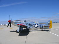N151SE @ MER - P-51D 44-73129 FF-129 Race #22 Merlin's Magic at West Coast Formation Clinic - by Steve Nation