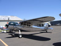 N1001D @ MCE - Michael Bell's 1950 Cessna 195A at Merced, CA - by Steve Nation