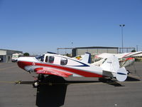 N7683B @ MCE - James Darcey's 1957 Bellanca 14-19-2 at Merced, CA in USCG Auxiliary marks