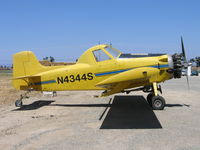 N4344S @ 2O6 - Andres Blech Air Tractor AT-300 as sprayer at Chowchilla, CA