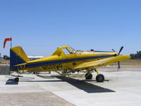 N502WQ @ 2O6 - Thiel Air Care Air Tractor AT-502 as sprayer at Chowchilla, CA.  This aircraft crashed at 0430 PDT on August 5, 2006 while spraying a field about 5 miles NW of Chowchilla, CA.  The AT-502 impacted the ground inverted and the pilot, tragically, was fatally