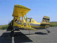 N716Y @ CL23 - Chuck Jones Flying Service 1964 Grumman G-164 Ag-Cat without engine at Biggs, CA