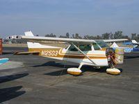 N12503 @ TLR - Old Barrel Nose 1973 Cessna 172M (sans engine) at Mefford Field, Tulare, CA - by Steve Nation