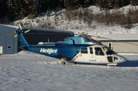 C-GHJP @ WHISTLER - HeliJet Sikorsky at Whistler, the famous skiresort north of Vancouver - by Mo Herrmann