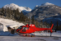 C-GSKI @ WHISTLER - Blackcomb Helicopters, with TV camera - by Mo Herrmann