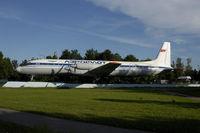 CCCP-75554 @ SVO - Ilyushin 18 of Aeroflot, gate planet at Moscow Sheremetyevo - by Mo Herrmann