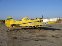 N23189 - three-quarters tail shot of Spain Air 1981 Air Tractor AT-301 rigged for dusting near South Dos Palos, CA (Fleet #3)