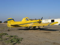 N8570S - three-quarters tail shot of Spain Air 1978 Air Tractor AT-301 rigged for dusting (near S. Dos Palos, CA) Fleet #2
