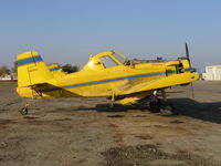 N2367C - three-quarters tail shot of Spain Air 1981 Air Tractor AT-301 rigged for dusting (near S. Dos Palos, CA) Fleet #3