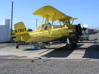 N7807 @ 13CL - Dixon Aviation 1974 Grumman-Schweizer G-164A Ag-Cat  rigged for spraying @ Maine-Prairie airstrip south of Dixon, CA