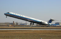 B-2140 @ PEK - China Northern Airlines MD-82 take off in Beijing Capital Airport (PEK) - by Yao Leilei
