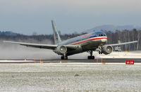 N346AN @ ZRH - nice winterstorm behind the plane, saw this on Zurich Airport, Switzerland - by Karl Haller