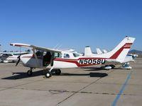 N5058U @ SDM - 1963 Cessna 206 in bright sunshine at Brown Field (San Diego), CA