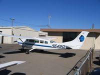 N6480H @ SDM - KPW Enterprises Cessna 207 in bright sun at Brown Field (San Diego), CA