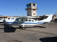 N9965M @ SDM - KPW Enterprises 1983 Cessna 207A in bright sun at Brown Field (San Diego), CA