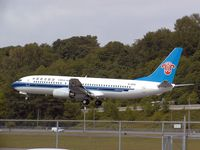 B-5022 @ BFI - China Southern 737 at Boeing Field - by Andreas Mowinckel