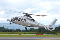 LX-HEC @ EGCC - Fine looking copter arriving to collect Russian Oil Billionaire Roman Abramovich. - by Kevin Murphy