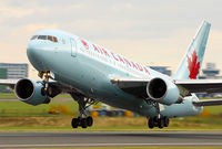 C-FVNM @ EGCC - An impressive new colour scheme for Air Canada's 767. - by Kevin Murphy