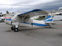 N4745E @ RHV - 1951 Aeronca 7EC between rainstorms at Reid-Hillview Airport, San Jose, CA