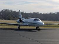 N911CB @ KSUS - 2002 Cessna Citation V - by Travis Jett