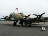 N93012 @ KBVS - B-17 on display at Skagit Regional Airport - by John J. Boling