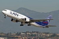 CC-CCZ @ LAX - LAN Airlines 767-300 departing RWY 25R on a clear December day. - by Dean Heald