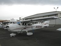 N1004E @ HWD - Brand new 2005 Cessna 172S at stormy Hayward Air Terminal, CA - by Steve Nation