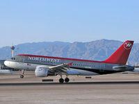 N337NB @ KLAS - Northwest Airlines / Airbus Industrie A319-114 - by SkyNevada