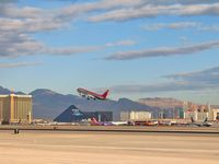 UNKNOWN @ KLAS - Northwest Airlines / Southern end of the Las Vegas 'Strip' in the background. - by SkyNevada