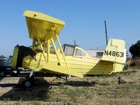 N48631 @ 13CL - Dixon Aviation G-164B after ground loop @ Maine-Praire Airfield (Hwy 113), CA