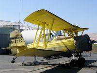 N6697Q @ CA67 - Valley Crop Dusting 1977 Schweizer-Grumman G-164B AgCat rigged as sprayer @ Westley, CA